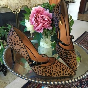 New Nordstrom Halogen Haircalf Leopard Shoes